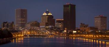 Rochester New York im Stadtzentrum gelegen Lizenzfreies Stockfoto
