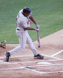 Rochester Red Wings batter Delwyn Young. Swings Royalty Free Stock Photos