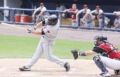 Rochester Red Wings batter Jeff Clement Stock Image