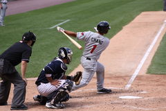 Rochester Red Wings batter Ray Chang Royalty Free Stock Photos