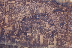Rochester Rock Art Panel, Utah Royalty Free Stock Photos