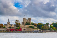 Rochester castle cathedral uk Stock Photos