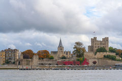 Rochester Castle and Cathedral kent uk  Royalty Free Stock Image