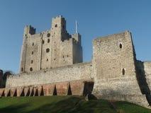 Rochester-Schloss, Kent, Vereinigtes Königreich stockfotos