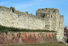 Rochester slott i England Arkivbilder