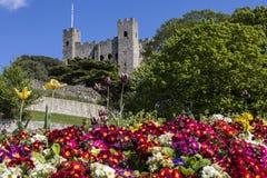 Rochester slott i Kent, UK Royaltyfria Bilder