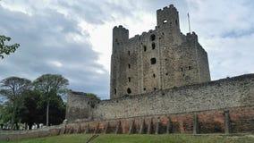Rochester slott kent UK Arkivfoton