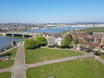 Rochester Town in England, UK. Countryside, bridge, liver, sightseeing royalty free stock photo