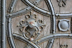 ROCHESTER, UK: Close-up on Rochester Cathedral western entrance door. Close-up on Rochester Cathedral western entrance door Stock Image