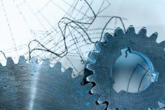 Rochets mécaniques et dessin Images libres de droits
