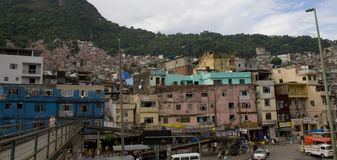 Rochina Favelas in Rio Stock Photography