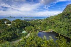 Rochon-Verdammungsstandpunkt, Seychellen lizenzfreies stockbild