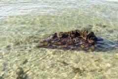Rochoso e penhascos no mar calmo imagens de stock