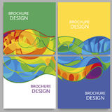 Rochures with abstract background. Brochures with abstract background. Sport gold medal event Vector Illustration