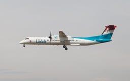 Rociada 8 del bombardero de Luxair foto de archivo libre de regalías