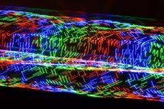 Rociadas circulares de la luz colorida Fotos de archivo libres de regalías