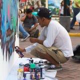 Rociador en el festival del Latino de Latir en Lima, Perú Fotos de archivo libres de regalías