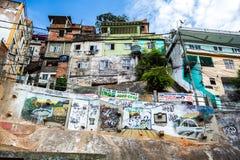 Rocinha Favela en Rio de Janeiro Fotos de archivo libres de regalías