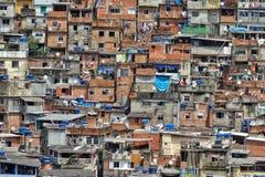 The Rocinha Favela, Rio De Janeiro, Brazil. A photograph showing the volume of houses built in close proximity on the Rocinha Favela, Rio De Janeiro Royalty Free Stock Photos