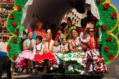 rocio för el-festivalpilgrimsfärd royaltyfria bilder