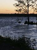 白色Rock湖 库存图片