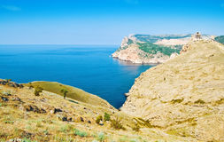 Rock. Nice crimean seascape on the photo Royalty Free Stock Photography