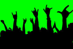 Rock 2. Crowd goes wild for rock and roll music Stock Image