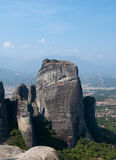 Rock. The Meteora is one of the largest and most important complexes of Eastern Orthodox monasteries in Greece, second only to Mount Athos Royalty Free Stock Images