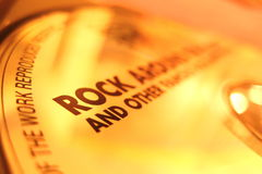Rock. Cd stock photography