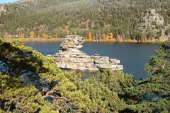 Rock湖 库存图片