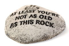 This Rock. Old Rock with wisdom Stock Image