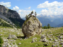 The rock. A big rock on Dolomiti mountains Royalty Free Stock Photography