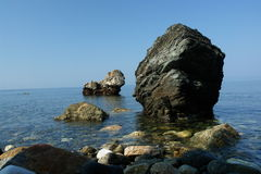 The rock. Chalkidiki, Greece royalty free stock images