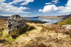 Rock above Loch Torridon Stock Image