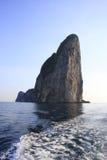 Rock in an Admanian sea. Thailand Stock Photos