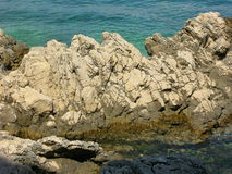 Rock in the Adriatic Sea. Croatia, Krk isle Royalty Free Stock Images