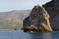 Rock at the Adriatic Sea Stock Photos