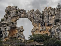 Rock Africa shape. An Africa shape at Orbaneja mountain royalty free stock images