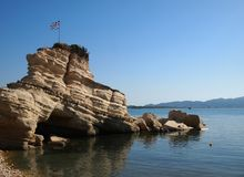 Rock in Agios Sostis Royalty Free Stock Image