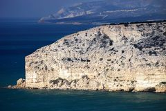 Rock on the Akrotiri Peninsula, Cyprus Stock Photo