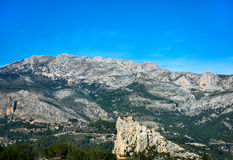 Rock of Alcala in Guadalest Stock Photography