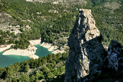 Rock of Alcala and Guadalest reservoir. Spain Royalty Free Stock Photo