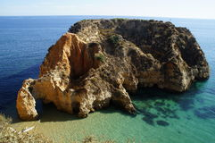 Rock at the Algarve Stock Images