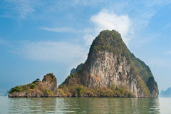 Rock on Andaman sea, Thailand Royalty Free Stock Photo