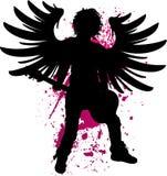 Rock Angel Vector Illustration. Grunge Rock Angel Vector Illustration Royalty Free Stock Photography