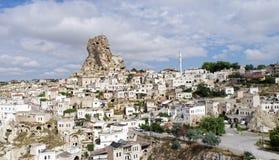 Rock apartments in a village in Cappadocia, Anatolia, Turkey royalty free stock image