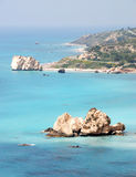 Rock of Aphrodite. Place in Cyprus said to be the birthplace of Aphrodite Stock Photography