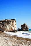Rock of Aphrodite, Cyprus Royalty Free Stock Images