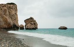 Rock of Aphrodite, Paphos, Cyprus Royalty Free Stock Photography
