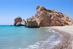 Rock of Aphrodite or Petra tou Ramiou Stock Photography
